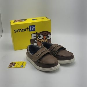 Smart Fit tan boys Bently Boat shoes size 10 boys